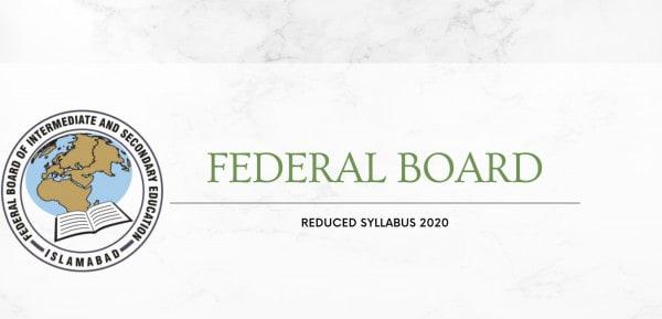Reduced Syllabus Federal Board
